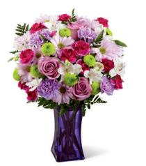 Photo of Purple Pop Vase Bouquet - CDL
