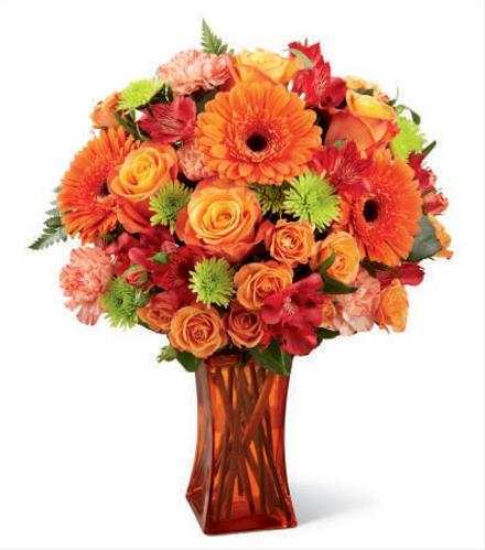 Photo of flowers: Orange Escape Vase Bouquet