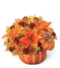Photo of Bountiful Pumpkin Bouquet - 15-F2