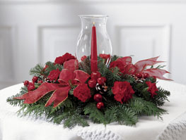Photo of Crimson Glow Christmas Centerpiece - B8-3430