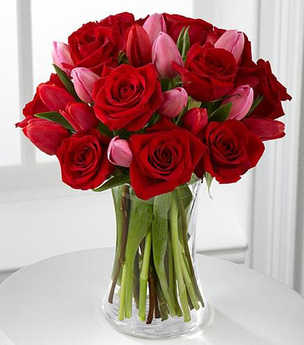 Photo of flowers: Let Love In Valentine Bouquet