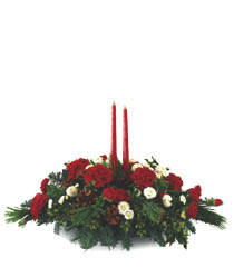 Photo of Red and White Twin Candles - B11-2921