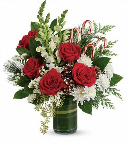 Photo of flowers: Festive Pines Bouquet