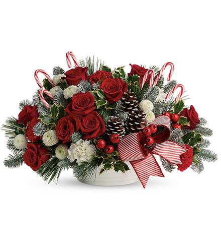 Photo of flowers: Jolly Candy Cane Bouquet