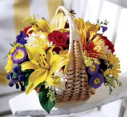 Photo of flowers: Garden Basket of Flowers