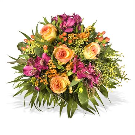 Photo of flowers: The Best Wishes Cut Gift Wrapped