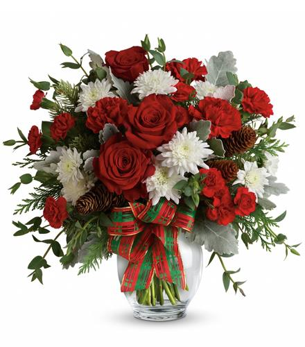 Photo of flowers: Holiday Shine Bouquet TWR14-1