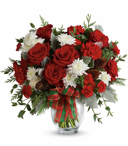 Photo of flowers: Holiday Shine Bouquet
