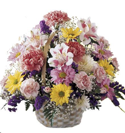 Photo of flowers: Basket of Cheer Flowers