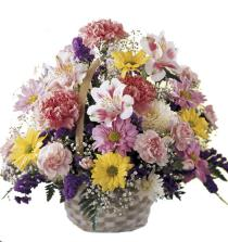 Photo of Basket of Cheer Flowers  - C7-3072