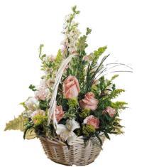 Photo of Blushing Beauty Basket of Flowers - C8-3023