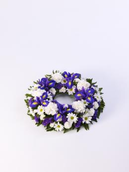 Photo of Classic Wreath Blue and White Small - 500446