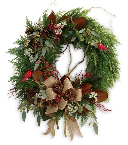 Photo of flowers: Rustic Holiday Wreath