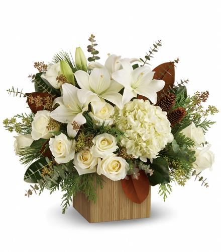 Photo of flowers: Snowy Woods Bouquet