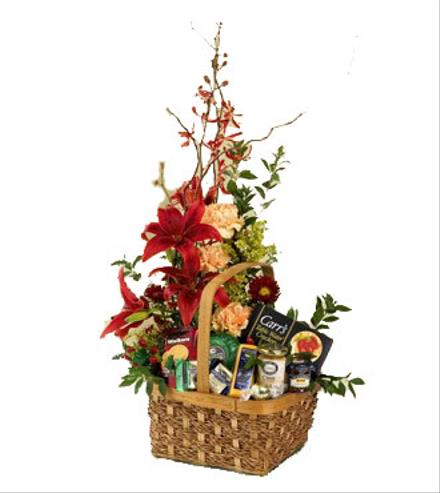 Photo of flowers: Floral Gourmet Basket