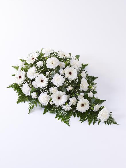 Photo of flowers: Carnation and Germini Teardrop Spray White