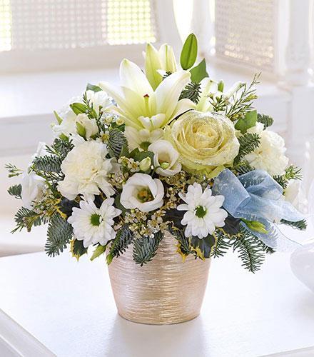 Photo of flowers: Winter White Sparkle Arrangement