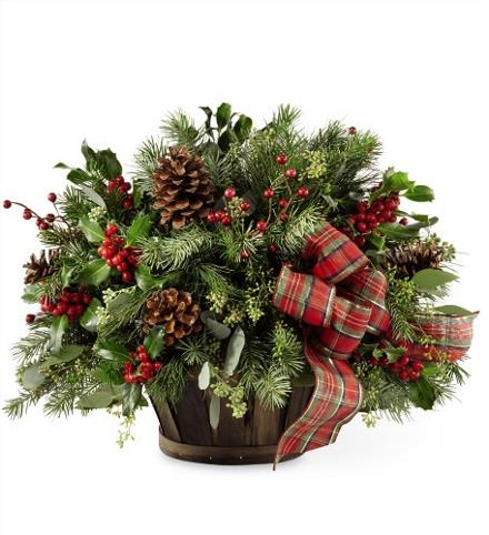 Photo of flowers: Holiday Homecomings Basket