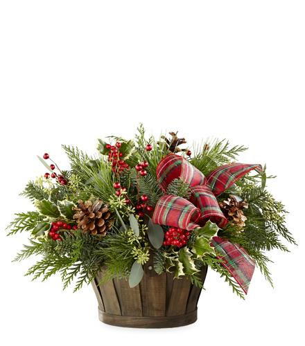 Photo of flowers: Holiday Homecomings Basket 18-C13