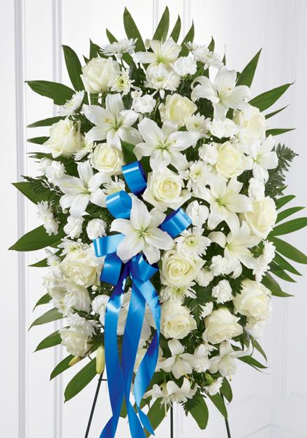 Photo of flowers: Exquisite Tribute Standing Spray