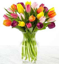 Photo of Rush of Color Assorted Tulip Bouquet - FW20
