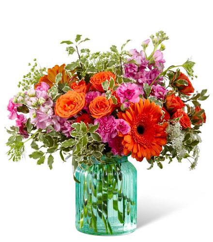 Photo of flowers: Aqua Escape Vase Bouquet
