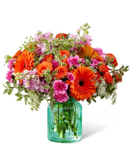 Photo of flowers: Aqua Escape Vase Bouquet