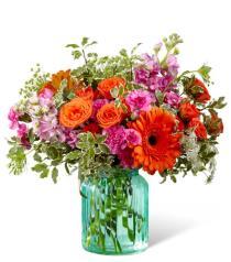 Photo of Aqua Escape Vase Bouquet - G13
