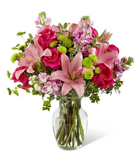 Photo of flowers: Pink Posh Vase Bouquet