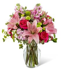 Photo of Pink Posh Bouquet Vase - B08