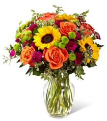 Photo of Color Craze Bouquet in Vase  - B15