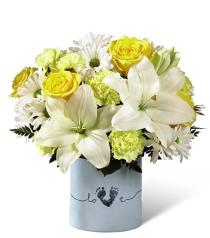Photo of Tiny Miracle New Baby Boy Bouquet - BB1