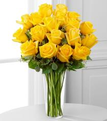 Photo of flowers: The Yellow Rose Bouquet in Vase