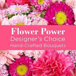 Photo of flowers: Mixed Pink Florist Designed Vase Bouquet