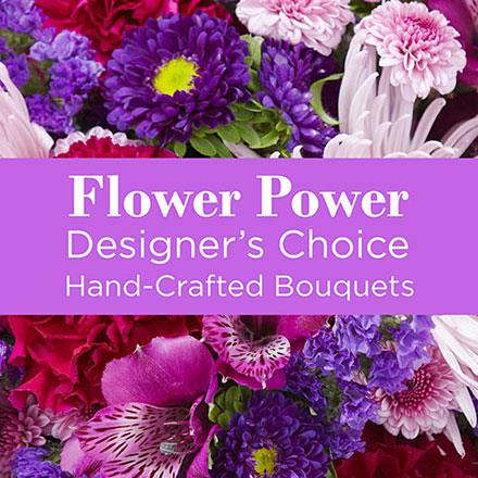 Photo of flowers: Purple Florist Designed Vase  Bouquet