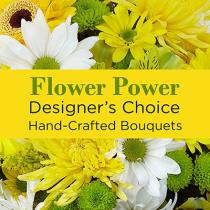 Photo of flowers: Mixed Yellow Florist Designed Bouquet