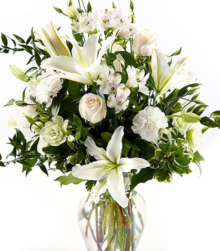 Photo of flowers: White Grande with Vase