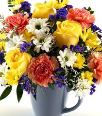 Photo of Mug full of Flowers - B8297-054
