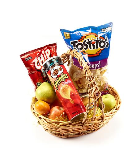 Photo of flowers: Fruit and Treats Gift Basket