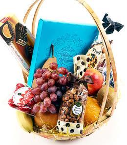 Photo of Fruit, Chocolates & Snacks Gift Basket - B8297-2949
