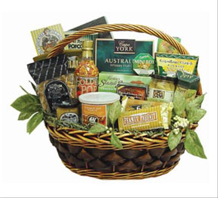 Photo of flowers: Gourmet Gift Basket Custom Made to Order