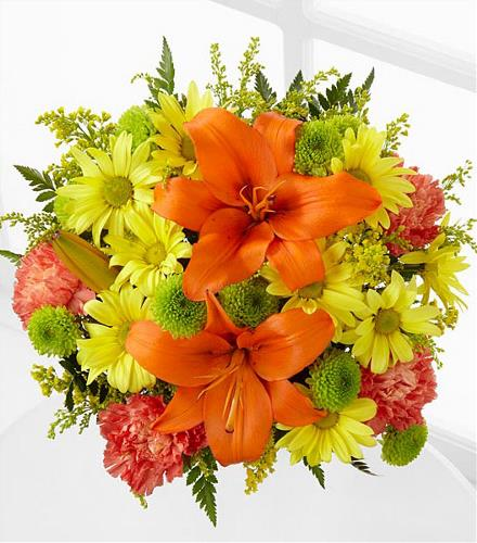 Photo of flowers: Keep Smiling Handtied Cuts NO Vase