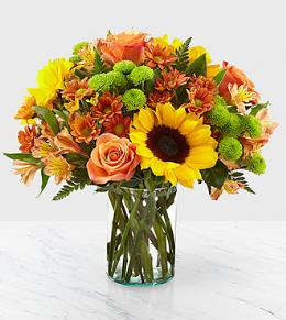 Photo of Autumn Splendor Bouquet in Vase - 16-F5