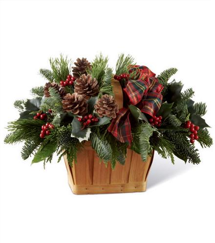 Photo of flowers: Christmas Coziness Basket