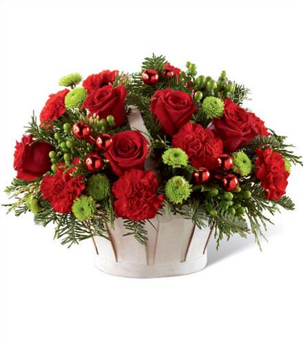 Photo of flowers: Winter Wishes Basket for Christmas