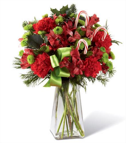 Photo of flowers: Candy Cane Lane in Vase