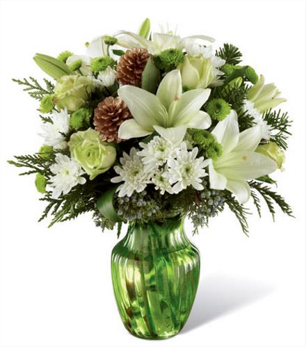 Photo of flowers: Holiday Bliss Vase by FTD