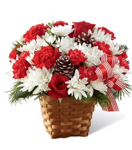 Photo of flowers: Holiday Happiness Basket Christmas