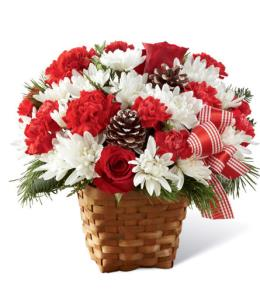 Photo of Holiday Happiness Basket Christmas - B14-5129