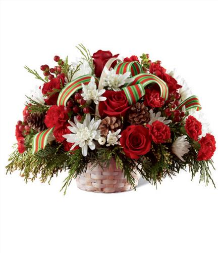 Photo of flowers: Goodwill & Cheer  Centerpiece Basket
